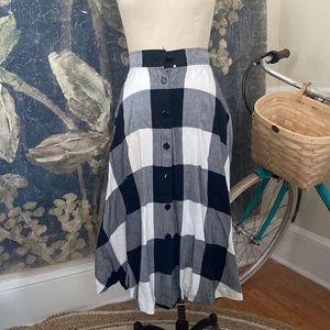 Perfect Autumn plaid flannel skirt VINTAGE gingham